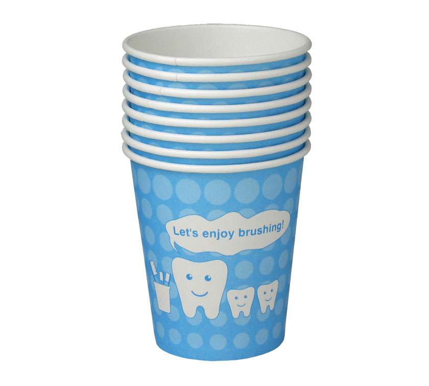 牙科专用纸杯-蓝色牙齿宝宝
